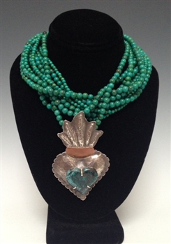 MARIO ROMERO 11 STRANDS TURQUOISE NECKLACE