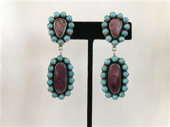 SPINY PURPLE SHELL EARRINGS